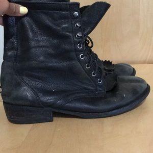 Classic lace up combat boots